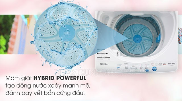 Toshiba AW-A800SV WB thiết kế hiện đại với mâm giặt Hybrid Powerful