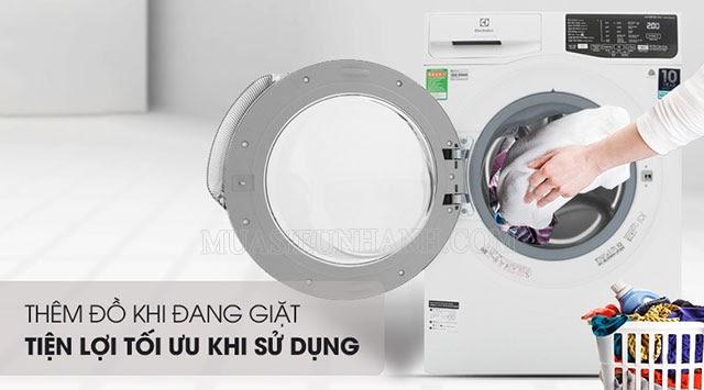 Dễ dàng thêm đồ khi đang giặt