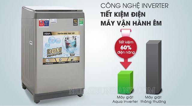 Máy giặt Aqua AQW-DK90CT S giúp tiết kiệm điện năng tiêu thụ