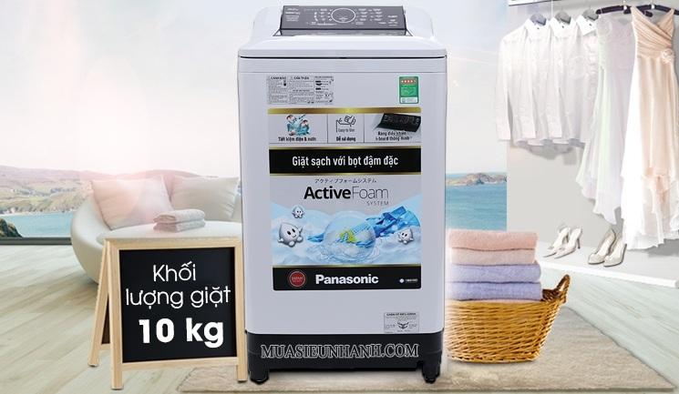 máy giặt panasonic NA F100a4grv 10 kg