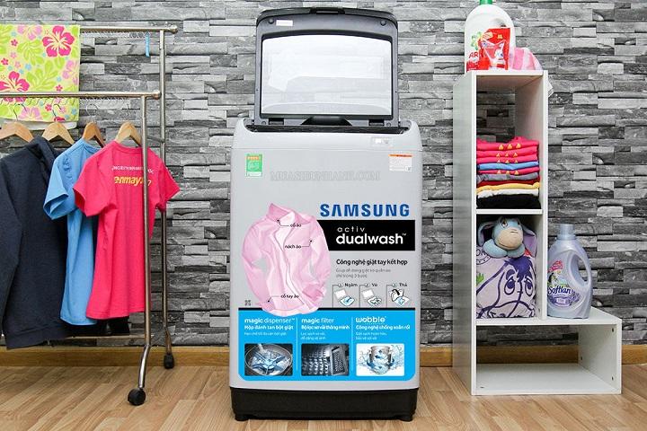 máy giặt samsung WA10J5710SG 10 kg