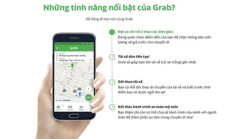 ưu điểm của dịch vụ gọi xe grab