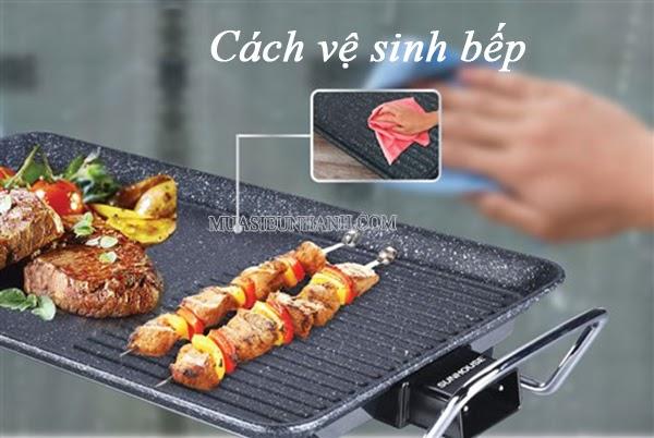 Cách sử dụng và vệ sinh bếp nướng điện sunhouse