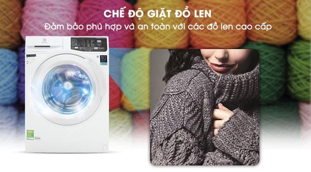 Chế độ giặt đồ len giúp áo không bị giãn
