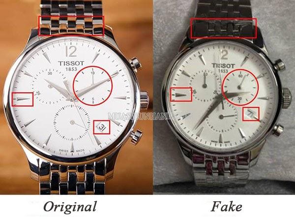 Đồng hồ Tissot Original và Fake