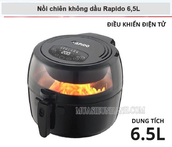 Nồi chiên không dầu Rapido 6,5L