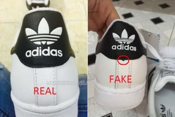 So sánh giày Adidas hàng Real và hàng Fake