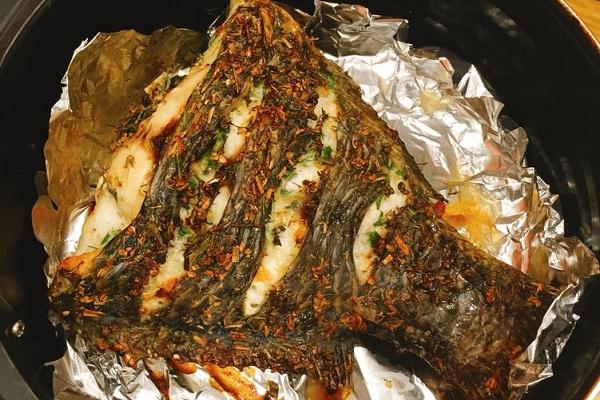 rán cá bằng nồi chiên không dầu