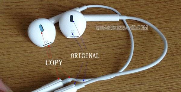 Tai nghe Iphone hàng Original và hàng Fake