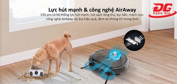 Ilife V3S Pro sở hữu công nghệ Air Away hiện đại