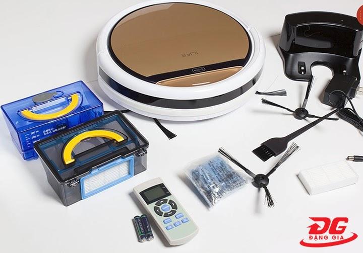 Ilife V5S Pro và các phụ kiện đi kèm