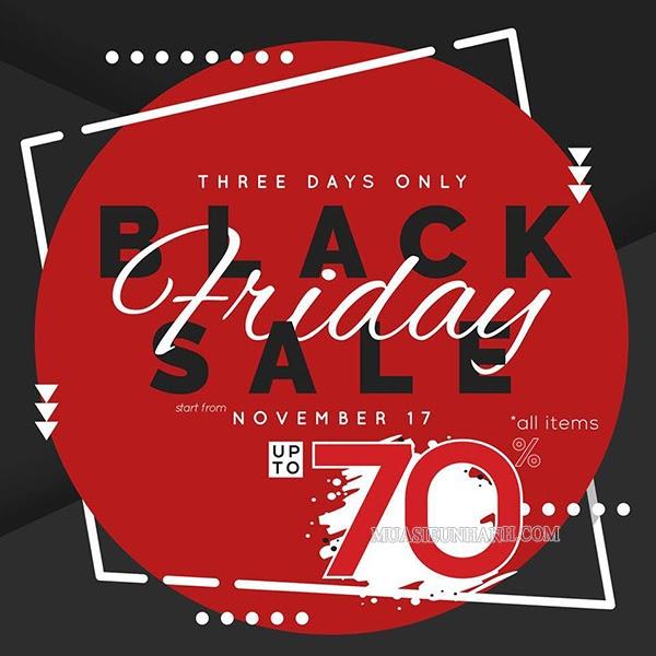 Poster giảm giá upto 70% ngày Black Friday
