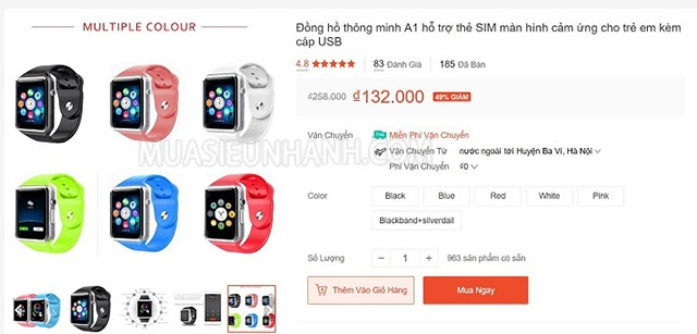 đồng hồ thông minh giá rẻ 100k