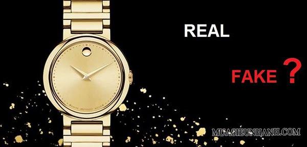 Phân biệt đồng hồ Movado fake và Real