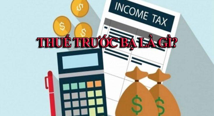 thuế trước bạ là gì