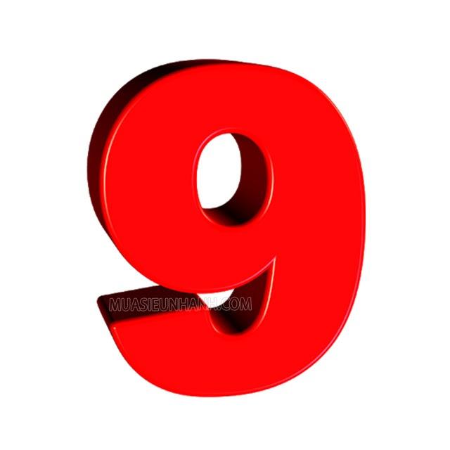 Số 9 được xem là con số may mắn, được nhiều người yêu thích