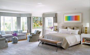 Màu ghi sáng cho phòng ngủ thêm ấm cúng