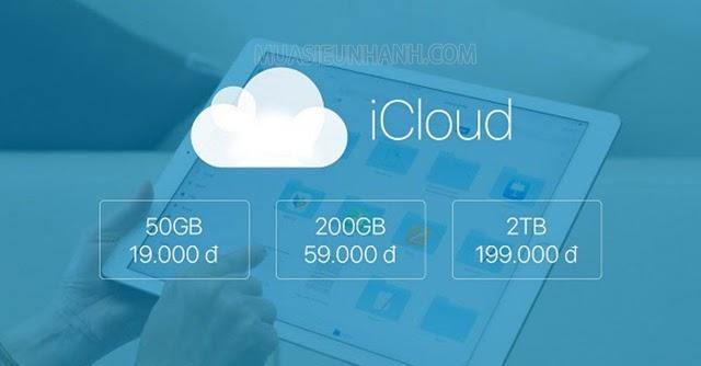 Cách mua dung lượng icloud cho iphone