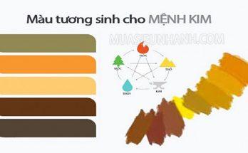 màu hợp với mệnh kim