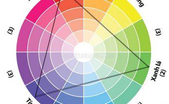 Nguyên tắc phối màu bổ túc bộ ba