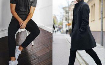 cách phối đồ với giày trắng nam