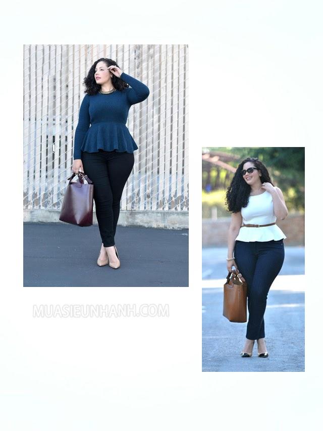 cách phối đồ cho nữ béo