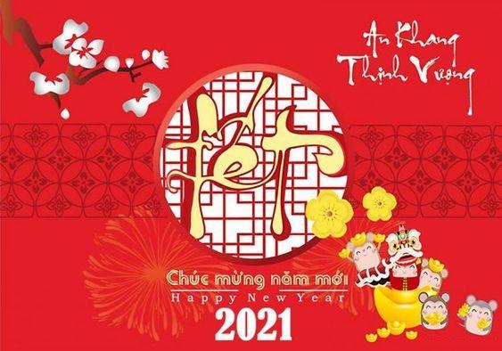 Một mẫu thiệp chúc mừng năm mới 2021 đẹp
