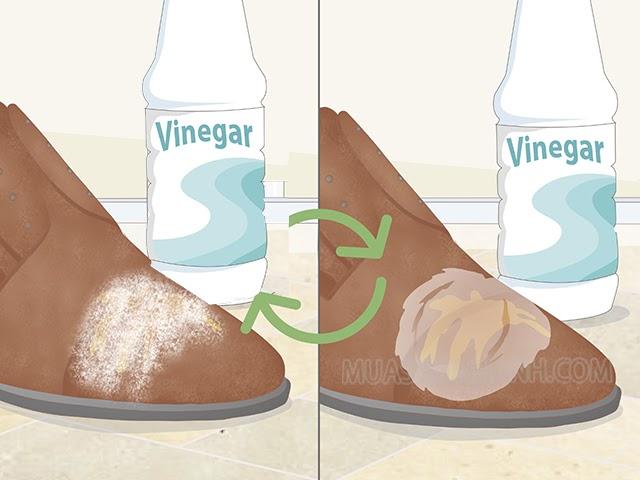 Cách tẩy giày bị mốc bằng giấm ăn