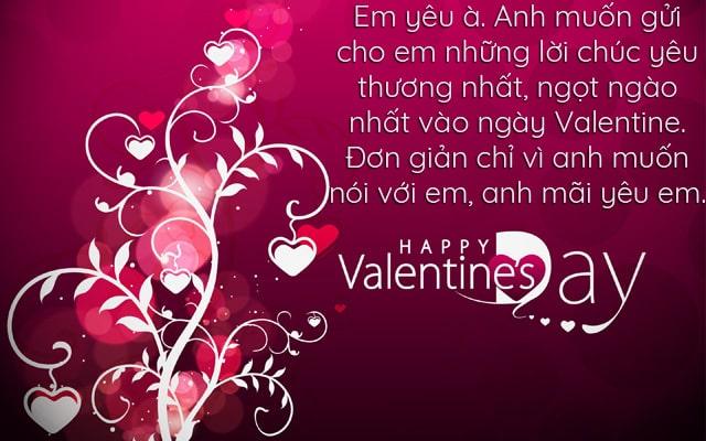 lời chúc valentine ngọt ngào