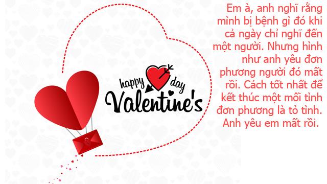 ảnh lời chúc valentine ngọt ngào