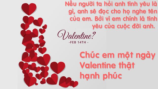 những lời chúc valentine dành cho người yêu