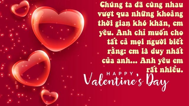 lời chúc valentine cho người yêu ở xa