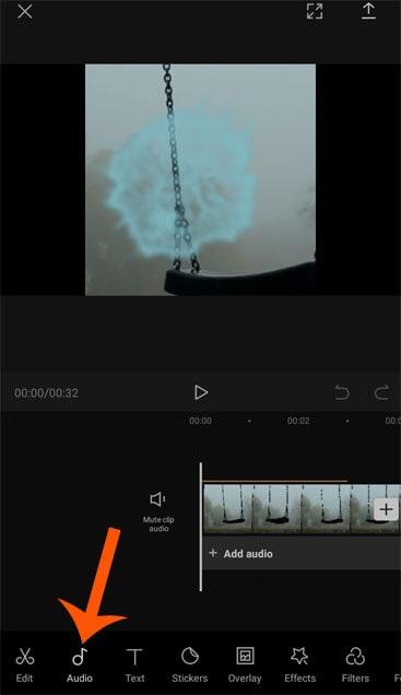 công cụ chỉnh sửa audio của app capcut