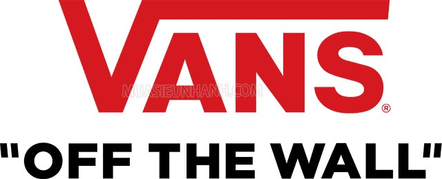 """Đến nay Vans đang sử dụng logo có thiết kế hiện đại kèm slogan """"Vans off the wall"""""""