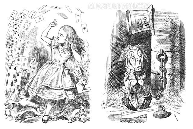 Các nét vẽ của Hiệp sĩ John Tenniel vô cùng đặc sắc và đặc biệt