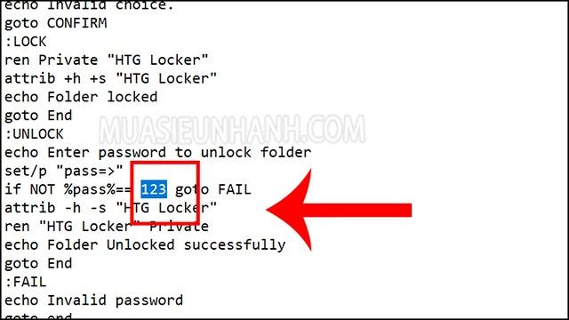 đặt pass cho folder