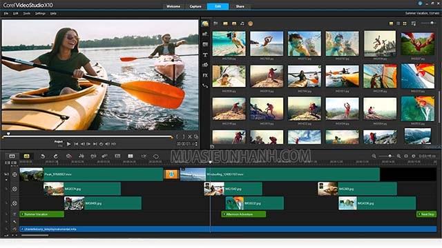 phần mềm edit video corel video studio
