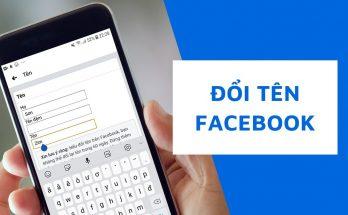 cách đổi tên facebook