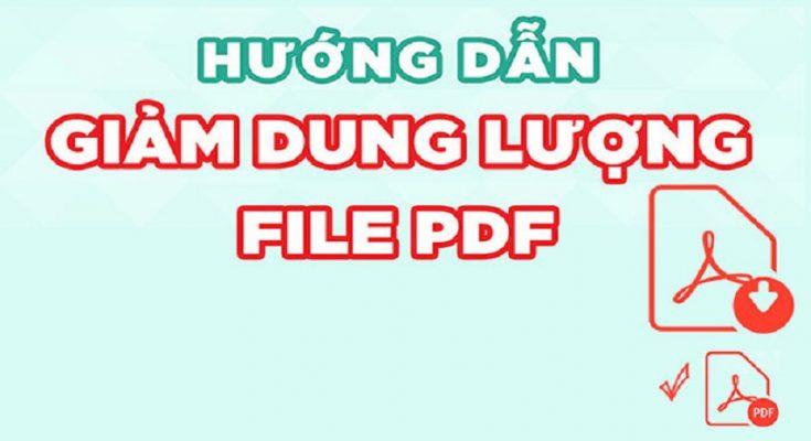 cách giảm dung lượng file PDF