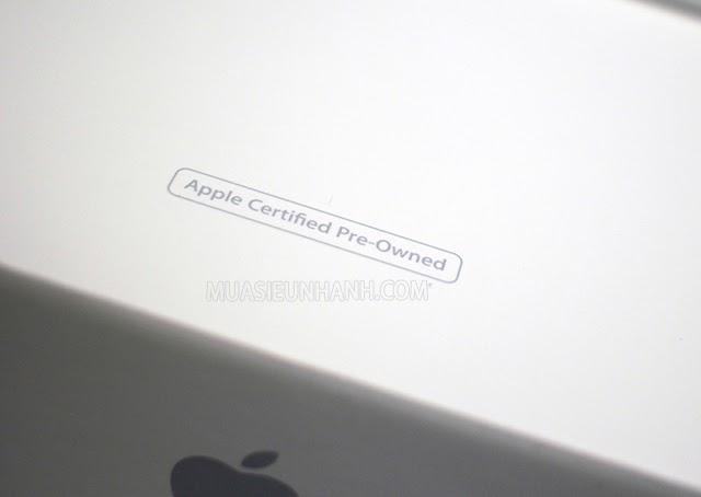 """Vỏ hộp của iPhone CPO sẽ có dòng chữ """"Apple Certified Pre – Owned"""""""