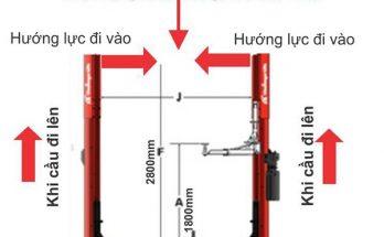 Nắm được kích thước của cầu nâng 2 trụ sẽ dễ tính toán được thông số lắp đặt