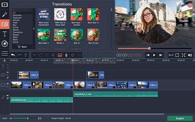 Movavi Video Editor giúp bạn chỉnh sửa video và âm thanh mà không làm giảm chất lượng video ban đầu