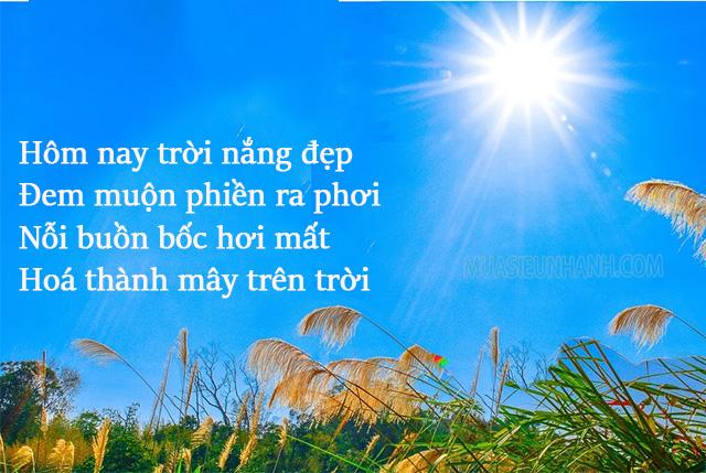 stt về nắng