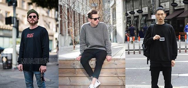 áo sweater mặc với quần gì nam