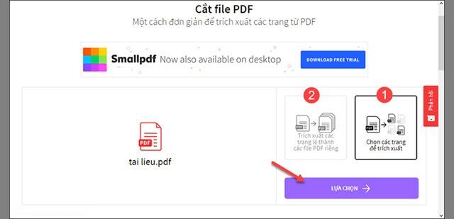 tách file pdf trực tuyến