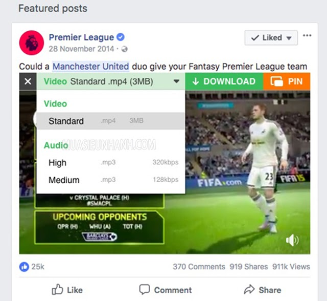 tải video facebook bằng trình duyệt cốc cốc