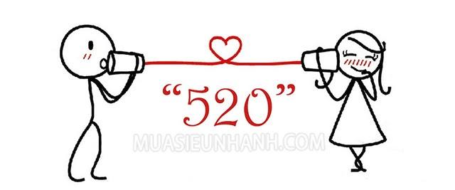 520 có nghĩa là tôi yêu em