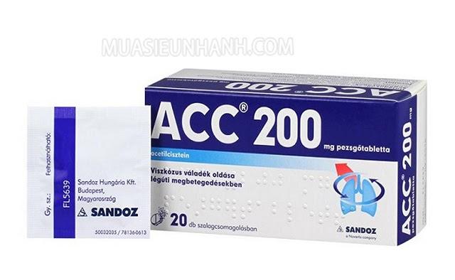 Acc 200 là thuốc ho và cảm cúm