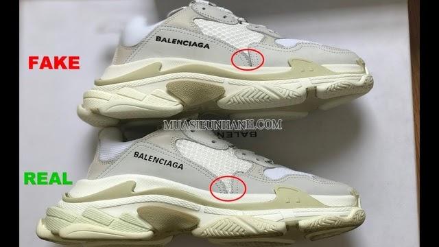 Form giày chính hãng và fake hoàn toàn khác nhau