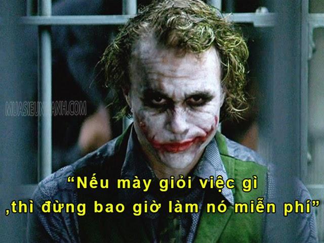 Những câu nói của Joker được nhiều người hưởng ứng nhiệt tình